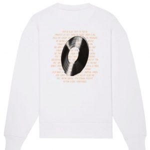 Sweatshirt vinyl blanc