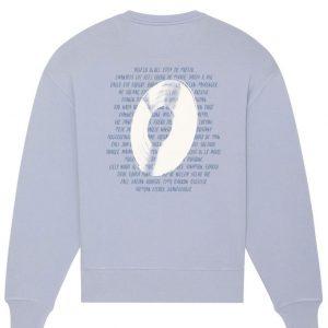 Sweatshirt vinyl bleu